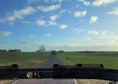 Sonnenschein und blauer Himmel - extra organisiert...