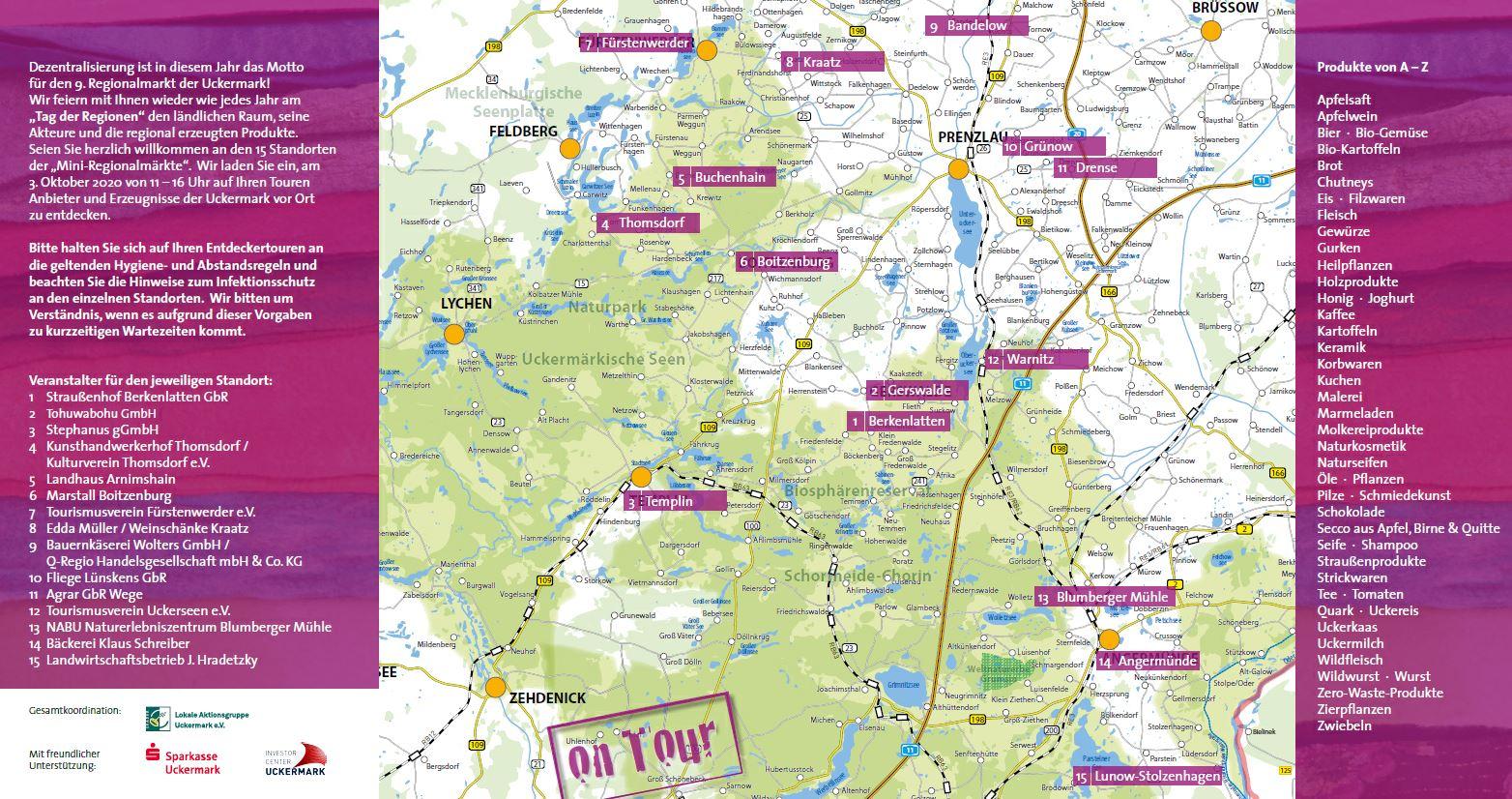 Regionalmarkt 2020_Flyer S.2 mit Karte